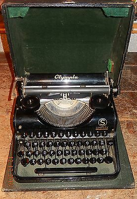"""Collectible Antique """"olympia Simplex"""" German-Made Mechanical Typewriter-Works!"""