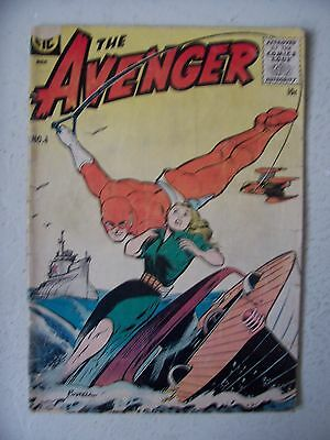 THE AVENGER #4 GD+ to G/VG    POWELL cover      RARE!