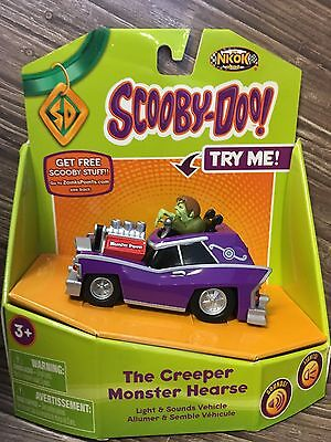 The Creeper Monster Hearse Scooby Doo Light & Sounds Vehicle Nkok New Very Rare