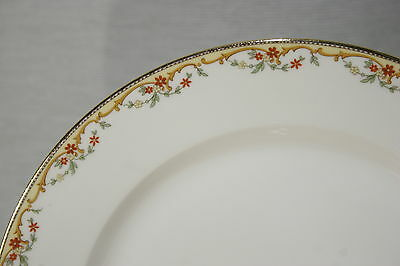 """LOT of 7 Limoges Vignaud The Meuse 9 5/8"""" Dinner Plates Yellow Verge Excellent"""