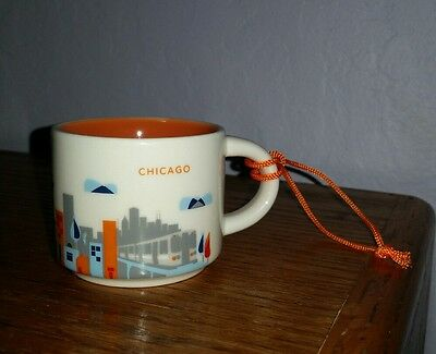 Starbucks ornament mug Chicago You are Here 2 oz