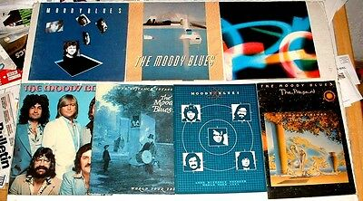 Moody Blues Lot Of 7 Tour Programs Octave Long Distance Voyager The Present More