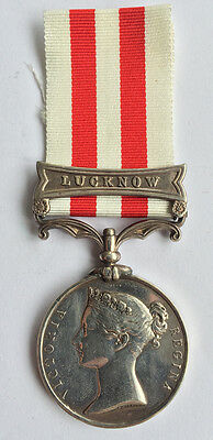 Indian Mutiny 1857-59 Campaign Medal, Clasp Lucknow, 79th Highlanders