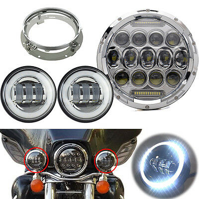 """7"""" LED Daymaker Replace Headlight Passing Lights For Harley Davidson Touring"""
