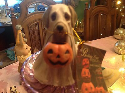 Bethany Lowe Halloween Spooky  Ghost Dog