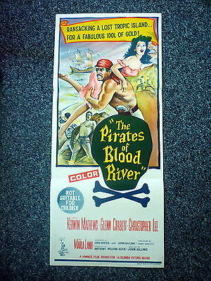 PIRATES OF BLOOD RIVER Original 1960s DB Movie Poster Christopher Lee