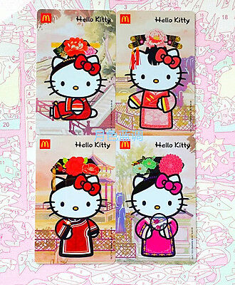 Rare China 2016 McDonald's hellokitty The court space space! card of 4