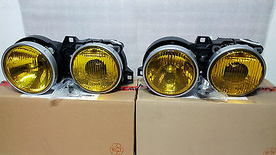 BMW M3 e30 Rare HELLA France Yellow Headlights Doppelscheinwerfer Lens NOS  New