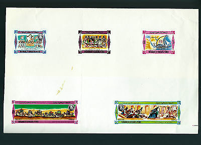 "Very Rare 1967 Yemen Only 01 Stamp Sheet Known ""Proof-Printing"" Solomon-Sheba Vi"