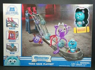 Monsters University Roll A Scare Toxic Race Playset Sulley Figure Disney Pixar