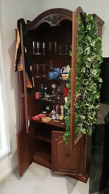 Beautiful Bookcase and Glass Door Display Cabinet Pair