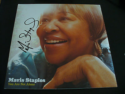 "Mavis Staples In Person Signed ""You Are Not Alone"" Vinyl Cover (LP Incl) W/COA"