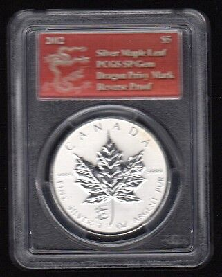 2012 Canada $5 Silver Maple Leaf Pcgs Silver Proof Coin !!!