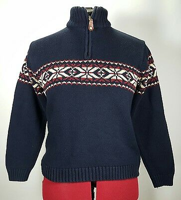 Boys SKYR Sweater Size M 10-12 Navy Blue Half Zip