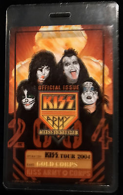 KISS - Army Laminate Pass - 2004 World Tour - LAST ONE!!!