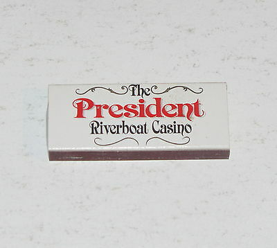Vintage The President Riverboat Casino Matches Unused