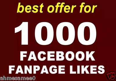 Get +1000 Facebook Page Like For 7$