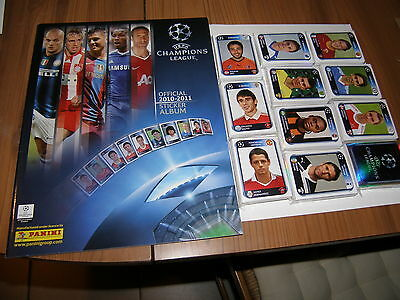 Panini Uefa Champions League 2010 / 2011 Set Complet + Album Vide