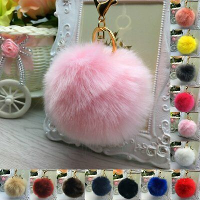 10cm Fluffy DIY Faux Fur Pom Pom Ball for Key Chain Phone Car Handbag Pendant