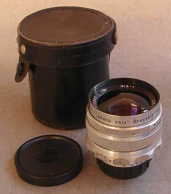 "Mir-1 2.8/37mm Zagorsk ""GRAND PRIX"" Brussels 1958 lens M39 SLR screw mount EXC."