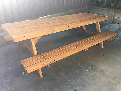 Pine Timber Outdoor Setting Picnic Table Brand New