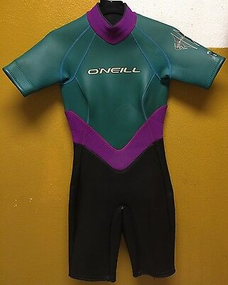 Women's O'Neill Hurricane Half Length Back Zipped Wet Suit Size Small