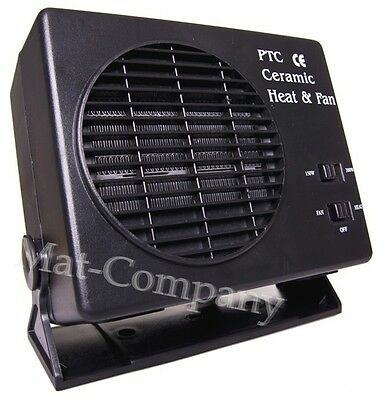 300W Car Vehicle Portable Ceramic Heater Heating Cooling Fan Defroster Demister