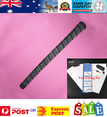10 x Raised Cord Arthritic Golf Grips - Free Grip Kit - AU Stock - Fast Delivery