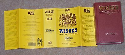 MINT 2013 WISDEN Cricketers' Almanack Hard Back Book 150th