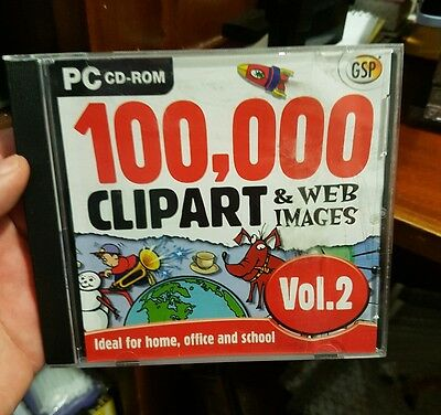 100,000 Clipart & Web Images Vol. 2 - PC CD ROM - FREE POST