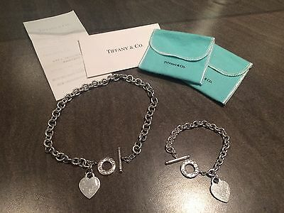 Genuine Tiffany & Co. Silver Polo Necklace and Bracelet Set With Store Receipt