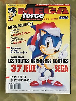 Megaforce 3 11/91 Magazine De Jeux Video Nintendo Sega Xbox Playstation