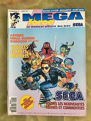 Megaforce 6 05/92 Magazine De Jeux Video Nintendo Sega Xbox Playstation