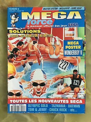 Megaforce 8 Été 92 Magazine De Jeux Video Nintendo Sega Xbox Playstation