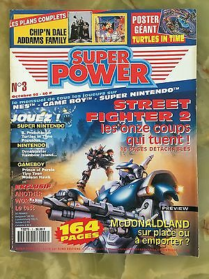 Super Power 3 10/92 Magazine De Jeux Video Nintendo Sega Xbox Playstation
