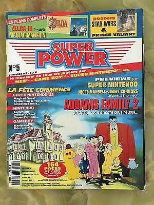Super Power 5 01/93 Magazine De Jeux Video Nintendo Sega Xbox Playstation