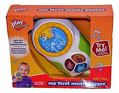 My First Music Player age 12 m+ Spin the ring for animal sound new