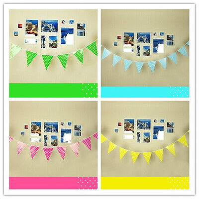 8.2 feet❃Polka Dot Spotty Flag Banner Bunting Garland Party Decorations Supplies