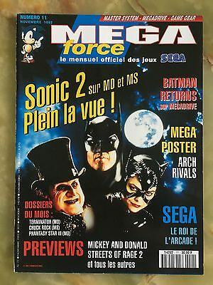 Megaforce 11 11/92 Magazine De Jeux Video Nintendo Sega Xbox Playstation
