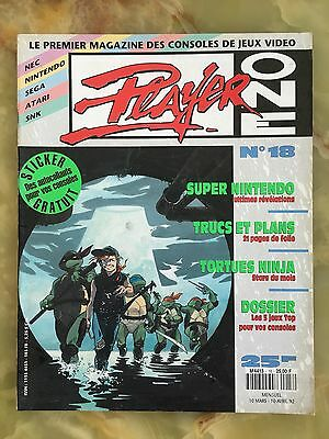 Player One 18 03/92 Magazine De Jeux Video Nintendo Sega Xbox Playstation