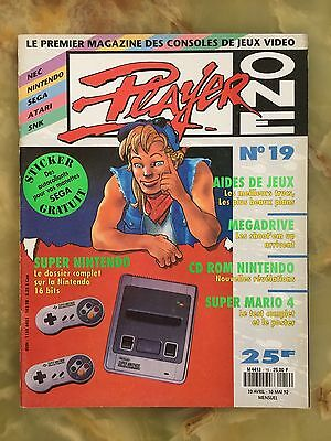 Player One 19 04/92 Magazine De Jeux Video Nintendo Sega Xbox Playstation