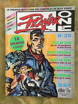 Player One 20 05/92 Magazine De Jeux Video Nintendo Sega Xbox Playstation