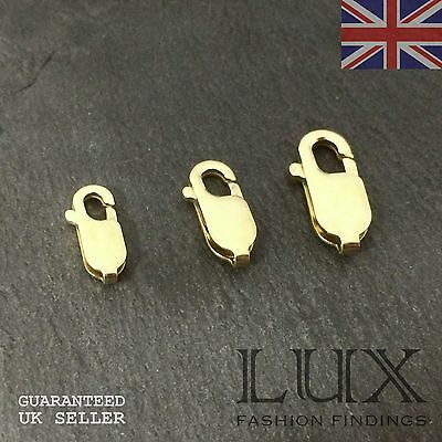 Quality 9ct Gold Flat Trigger Clasps for Fine Jewellery Making 11mm 12mm 14mm UK