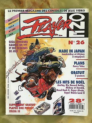 Player One 26 12/92 Magazine De Jeux Video Nintendo Sega Xbox Playstation