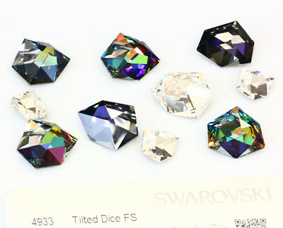 Genuine SWAROVSKI 4933 Tilted Dice Fancy Crystals * Many Sizes & Colors
