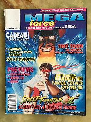 Megaforce 21 10/93 Magazine De Jeux Video Nintendo Sega Xbox Playstation