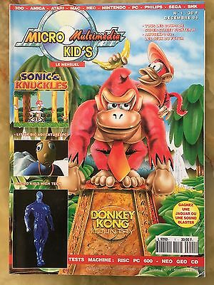Magazine Micro Kid's Multimédia 1 De 12/94 Jeux Video Sega Nintendo Consoles