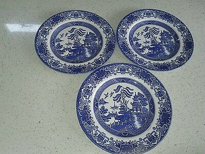Old Willow plates X3