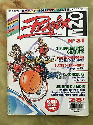 Player One 31 05/93 Magazine De Jeux Video Nintendo Sega Xbox Playstation