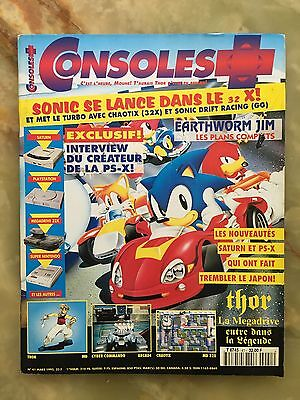 Consoles + Plus 41 03/95 Magazine De Jeux Video Nintendo Sega Xbox Playstation